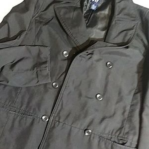 Gap Black Poly Rain Peacoat Size Small